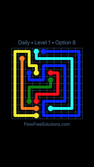 Solution and Answer to the Puzzle for Flow Date Friday, August 9, 2019 Level 1