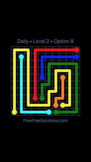 Solution and Answer to the Puzzle for Flow Date Friday, August 9, 2019 Level 2