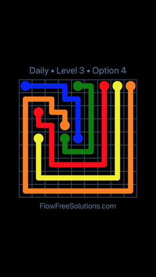Solution and Answer to the Puzzle for Flow Date Saturday, May 21, 2016 Level 3