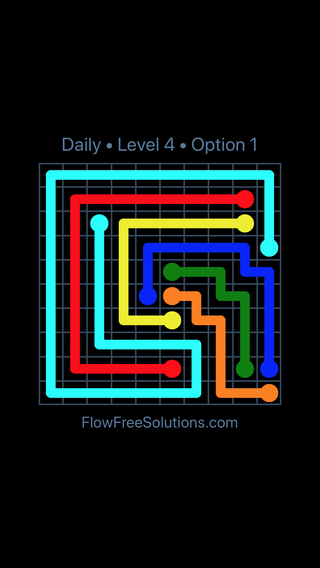 Solution and Answer to the Puzzle for Flow Date Saturday, May 21, 2016 Level 4