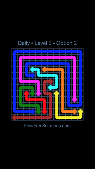 Solution and Answer to the Puzzle for Flow Date Sunday, May 22, 2016 Level 2