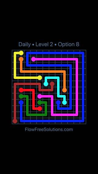 Solution and Answer to the Puzzle for Flow Date Sunday, August 11, 2019 Level 2