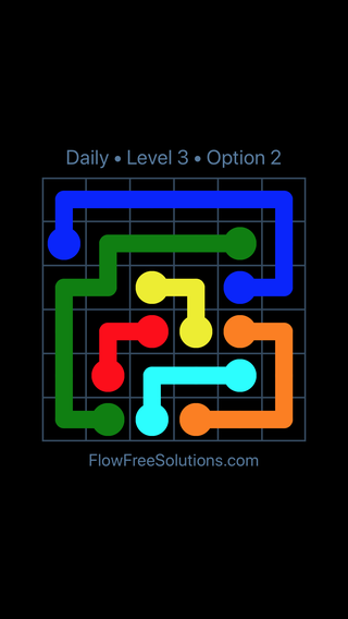 Solution and Answer to the Puzzle for Flow Date Monday, August 15, 2016 Level 3