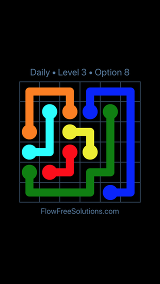 Solution and Answer to the Puzzle for Flow Date Monday, August 12, 2019 Level 3