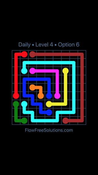 Solution and Answer to the Puzzle for Flow Date Monday, May 23, 2016 Level 4