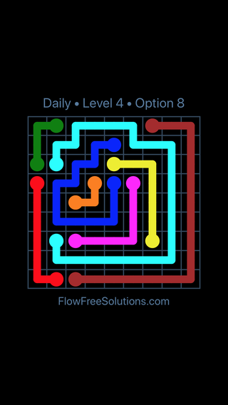 Solution and Answer to the Puzzle for Flow Date Monday, August 12, 2019 Level 4