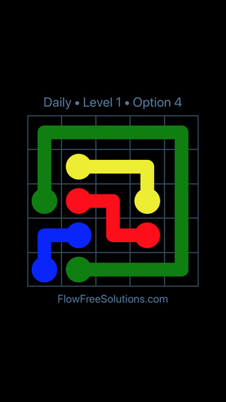 Solution and Answer to the Puzzle for Flow Date Tuesday, May 24, 2016 Level 1