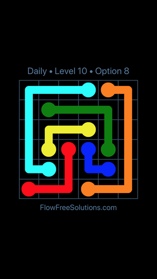 Solution and Answer to the Puzzle for Flow Date Tuesday, August 13, 2019 Level 10