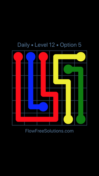 Solution and Answer to the Puzzle for Flow Date Tuesday, May 24, 2016 Level 12