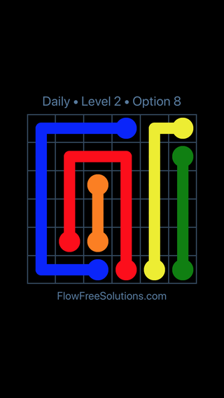 Solution and Answer to the Puzzle for Flow Date Tuesday, May 24, 2016 Level 2
