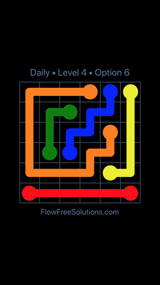 Solution and Answer to the Puzzle for Flow Date Tuesday, May 24, 2016 Level 4