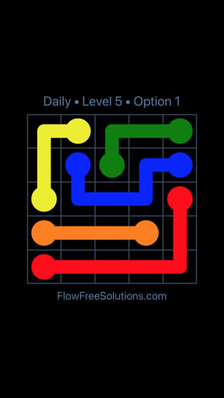 Solution and Answer to the Puzzle for Flow Date Tuesday, May 24, 2016 Level 5