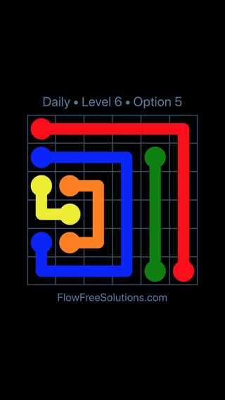Solution and Answer to the Puzzle for Flow Date Tuesday, August 16, 2016 Level 6