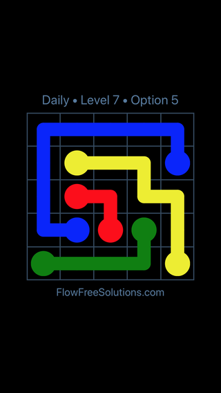 Solution and Answer to the Puzzle for Flow Date Tuesday, May 24, 2016 Level 7
