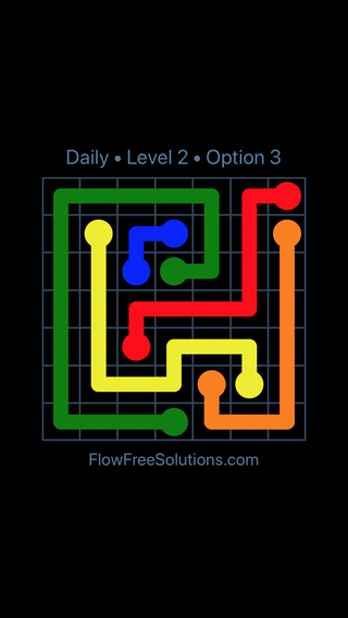 Solution and Answer to the Puzzle for Flow Date Monday, June 6, 2016 Level 2