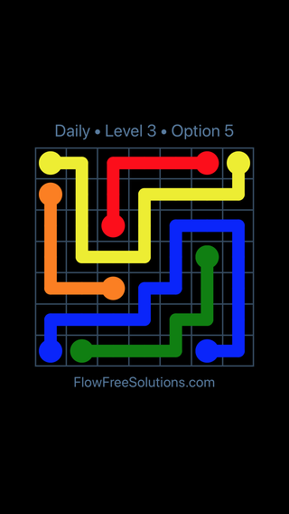 Solution and Answer to the Puzzle for Flow Date Monday, June 6, 2016 Level 3