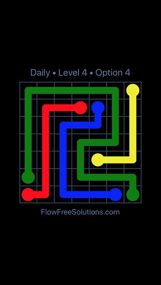 Solution and Answer to the Puzzle for Flow Date Monday, June 6, 2016 Level 4