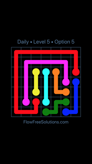 Solution and Answer to the Puzzle for Flow Date Monday, June 6, 2016 Level 5