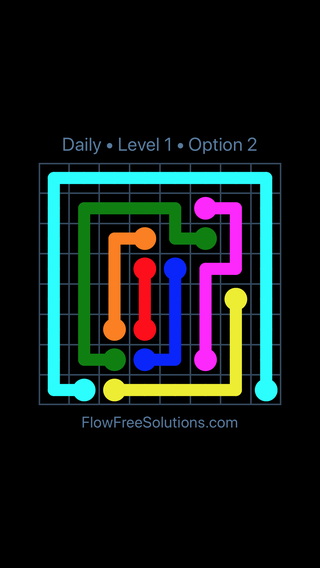 Solution and Answer to the Puzzle for Flow Date Wednesday, May 25, 2016 Level 1