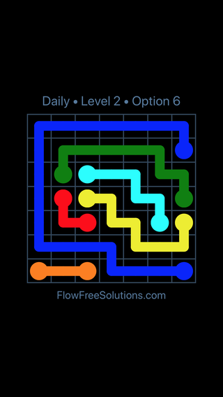 Solution and Answer to the Puzzle for Flow Date Wednesday, May 25, 2016 Level 2