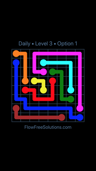 Solution and Answer to the Puzzle for Flow Date Wednesday, August 17, 2016 Level 3