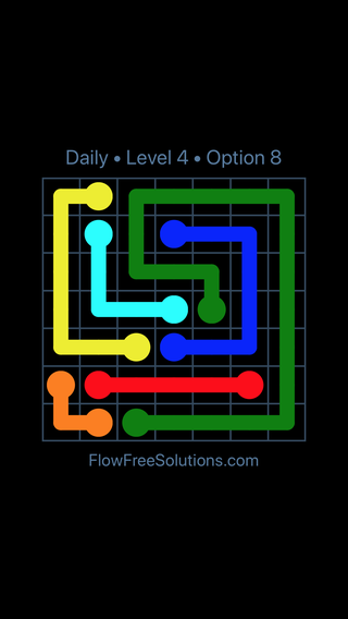 Solution and Answer to the Puzzle for Flow Date Wednesday, May 25, 2016 Level 4