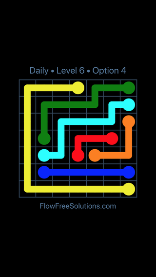 Solution and Answer to the Puzzle for Flow Date Wednesday, May 25, 2016 Level 6