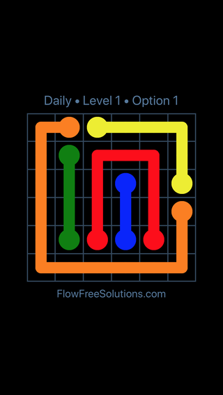 Solution and Answer to the Puzzle for Flow Date Thursday, May 26, 2016 Level 1