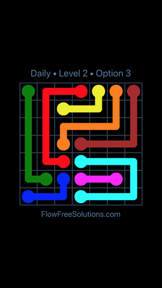 Solution and Answer to the Puzzle for Flow Date Thursday, May 26, 2016 Level 2