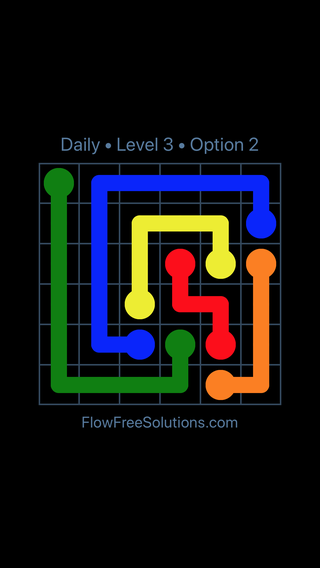 Solution and Answer to the Puzzle for Flow Date Thursday, August 15, 2019 Level 3