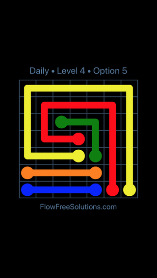 Solution and Answer to the Puzzle for Flow Date Thursday, May 26, 2016 Level 4