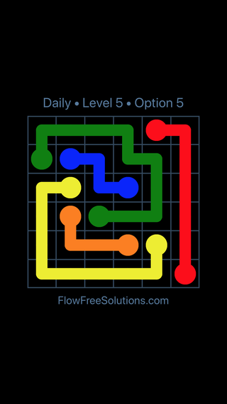 Solution and Answer to the Puzzle for Flow Date Thursday, May 26, 2016 Level 5
