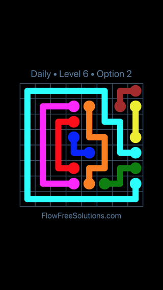Solution and Answer to the Puzzle for Flow Date Thursday, May 26, 2016 Level 6