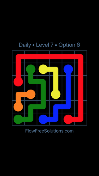 Solution and Answer to the Puzzle for Flow Date Thursday, May 26, 2016 Level 7