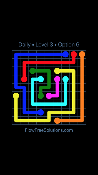 Solution and Answer to the Puzzle for Flow Date Friday, August 19, 2016 Level 3