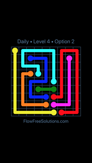 Solution and Answer to the Puzzle for Flow Date Friday, August 19, 2016 Level 4