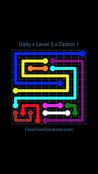 Solution and Answer to the Puzzle for Flow Date Saturday, May 28, 2016 Level 3