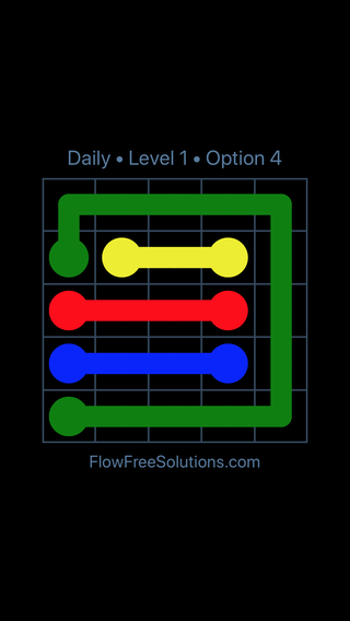 Solution and Answer to the Puzzle for Flow Date Sunday, August 21, 2016 Level 1