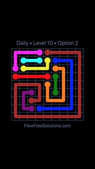 Solution and Answer to the Puzzle for Flow Date Sunday, May 29, 2016 Level 10