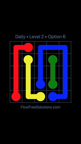 Solution and Answer to the Puzzle for Flow Date Sunday, August 21, 2016 Level 2