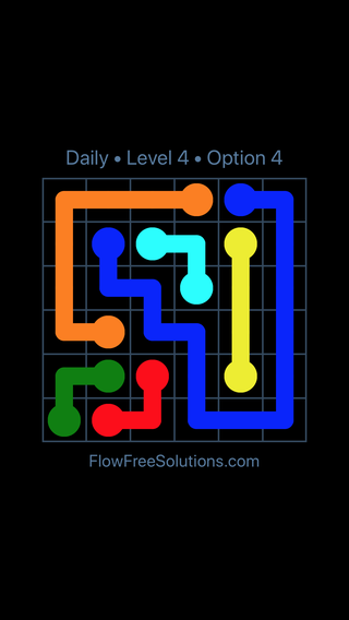 Solution and Answer to the Puzzle for Flow Date Sunday, August 21, 2016 Level 4