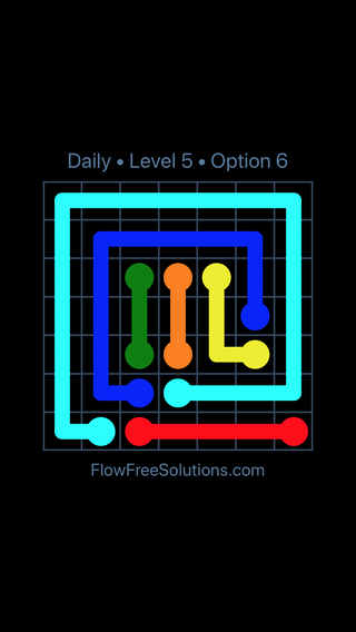 Solution and Answer to the Puzzle for Flow Date Sunday, May 29, 2016 Level 5