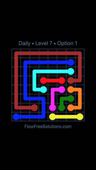 Solution and Answer to the Puzzle for Flow Date Sunday, May 29, 2016 Level 7