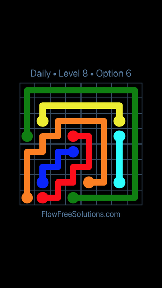 Solution and Answer to the Puzzle for Flow Date Sunday, May 29, 2016 Level 8