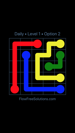 Solution and Answer to the Puzzle for Flow Date Tuesday, June 7, 2016 Level 1