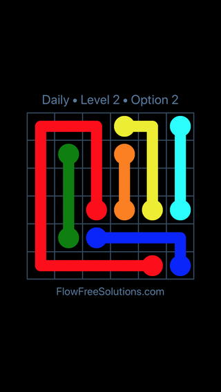 Solution and Answer to the Puzzle for Flow Date Tuesday, June 7, 2016 Level 2