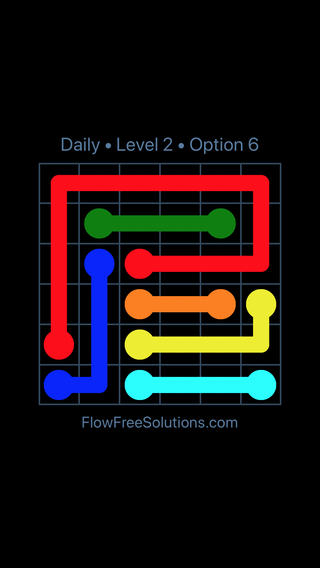 Solution and Answer to the Puzzle for Flow Date Tuesday, March 15, 2016 Level 2