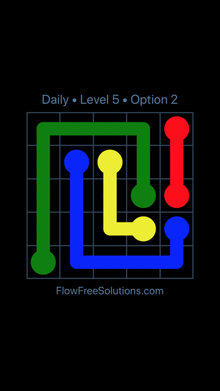 Solution and Answer to the Puzzle for Flow Date Tuesday, June 7, 2016 Level 5