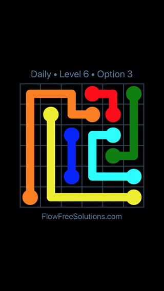 Solution and Answer to the Puzzle for Flow Date Tuesday, June 7, 2016 Level 6