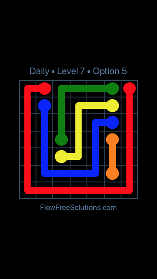 Solution and Answer to the Puzzle for Flow Date Tuesday, June 7, 2016 Level 7